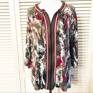 Christopher & Banks | 🌺Patterned Full Zip Jacket